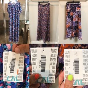 NWT Lularoe Purple Skirts & Dress - size 2XL 💜